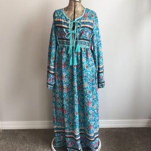 Boho Gypsy Long Sleeve Maxi Dress
